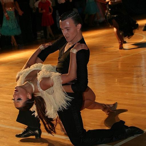 Tańce latynoamerykańskie para taneczna