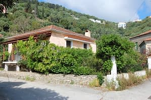 Exterior facade of house for sale in Ithaca Greece Kioni