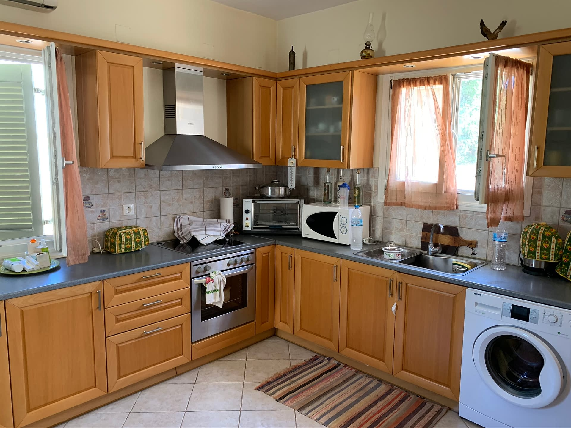 Interior kitchen of house for sale in Ithaca Greece Vathi