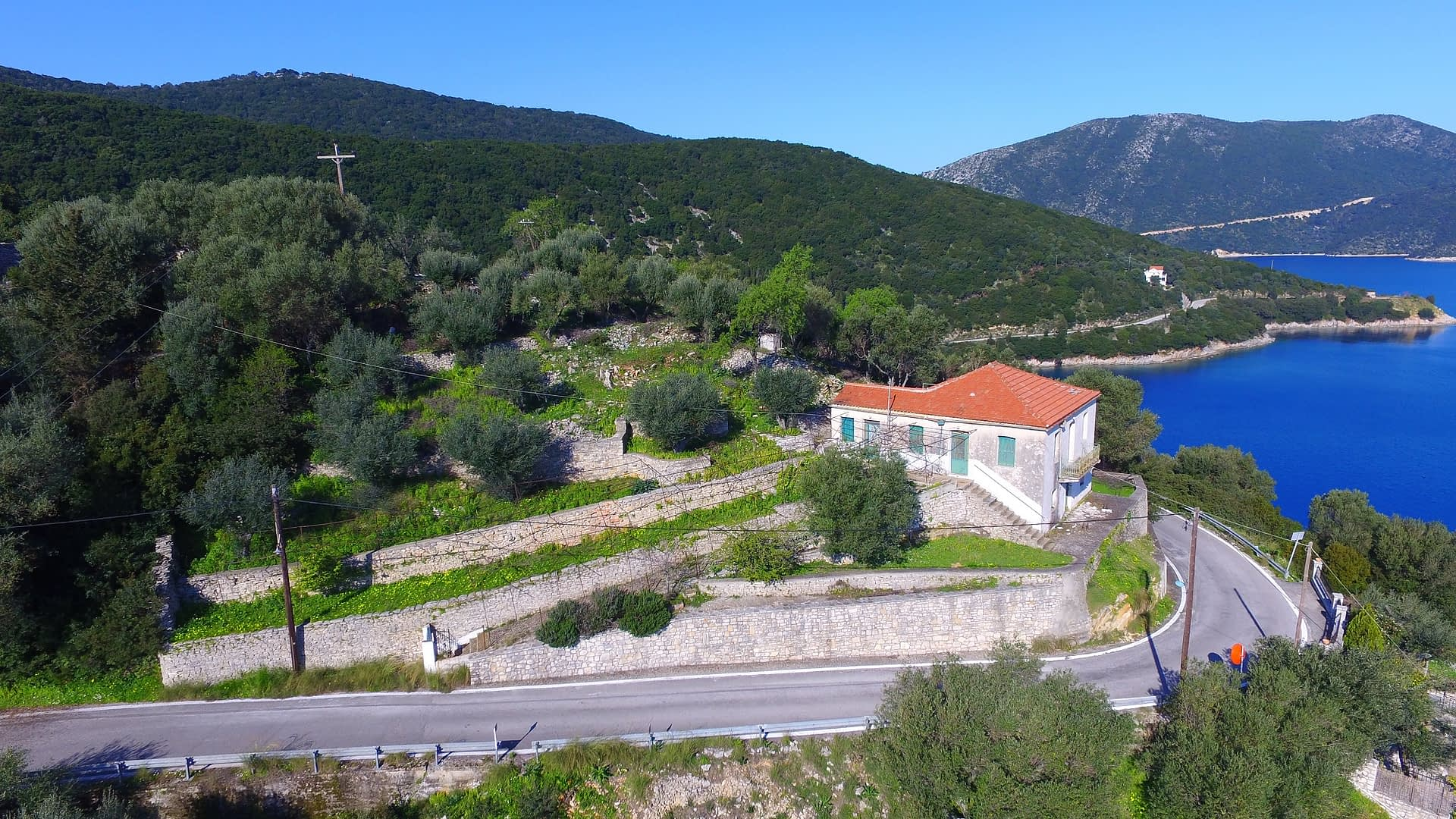 House for sale in Ithaca Greece with exterior views