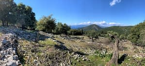 Landscape and Sea view of land for sale in Ithaca Greece, Stavros