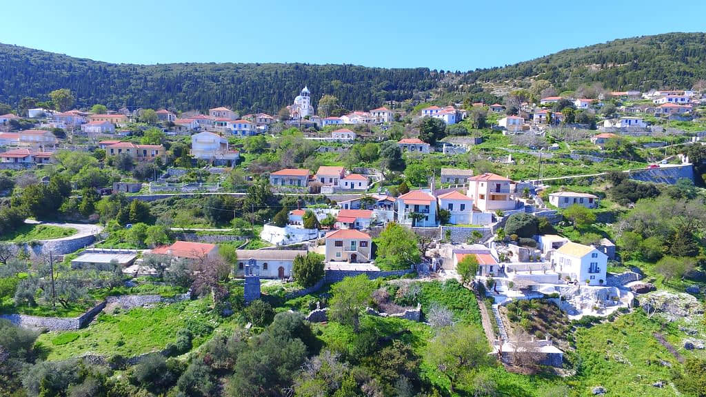 Aerial view of Exoghi Village