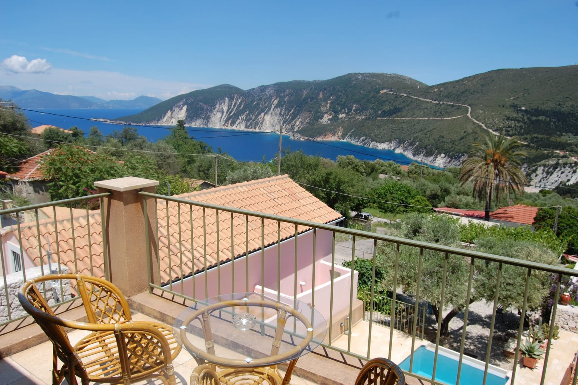 Sea view of Homer's View houses to rent MV Properties Ithaca Greece