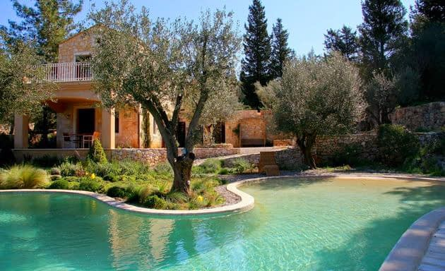 Swimming pool of villa for rent Ithaca Greece, Vathi