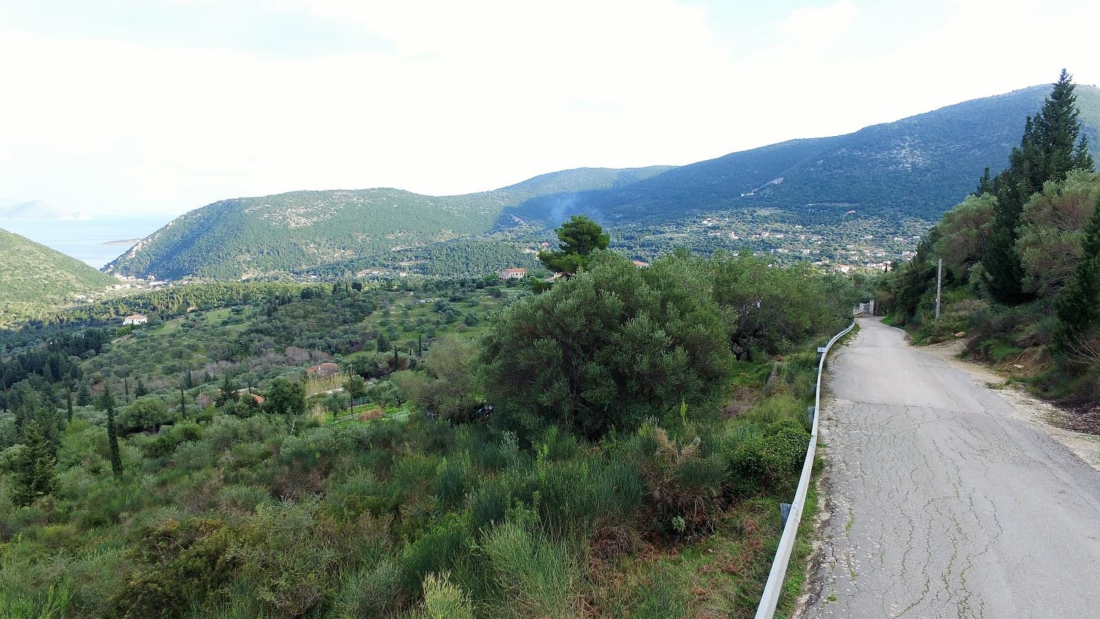 Landscape terrain with road access of land for sale Ithaca Greece Exoghi