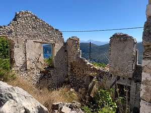 Land with ruins for sale Ithaca Greece Exoghi