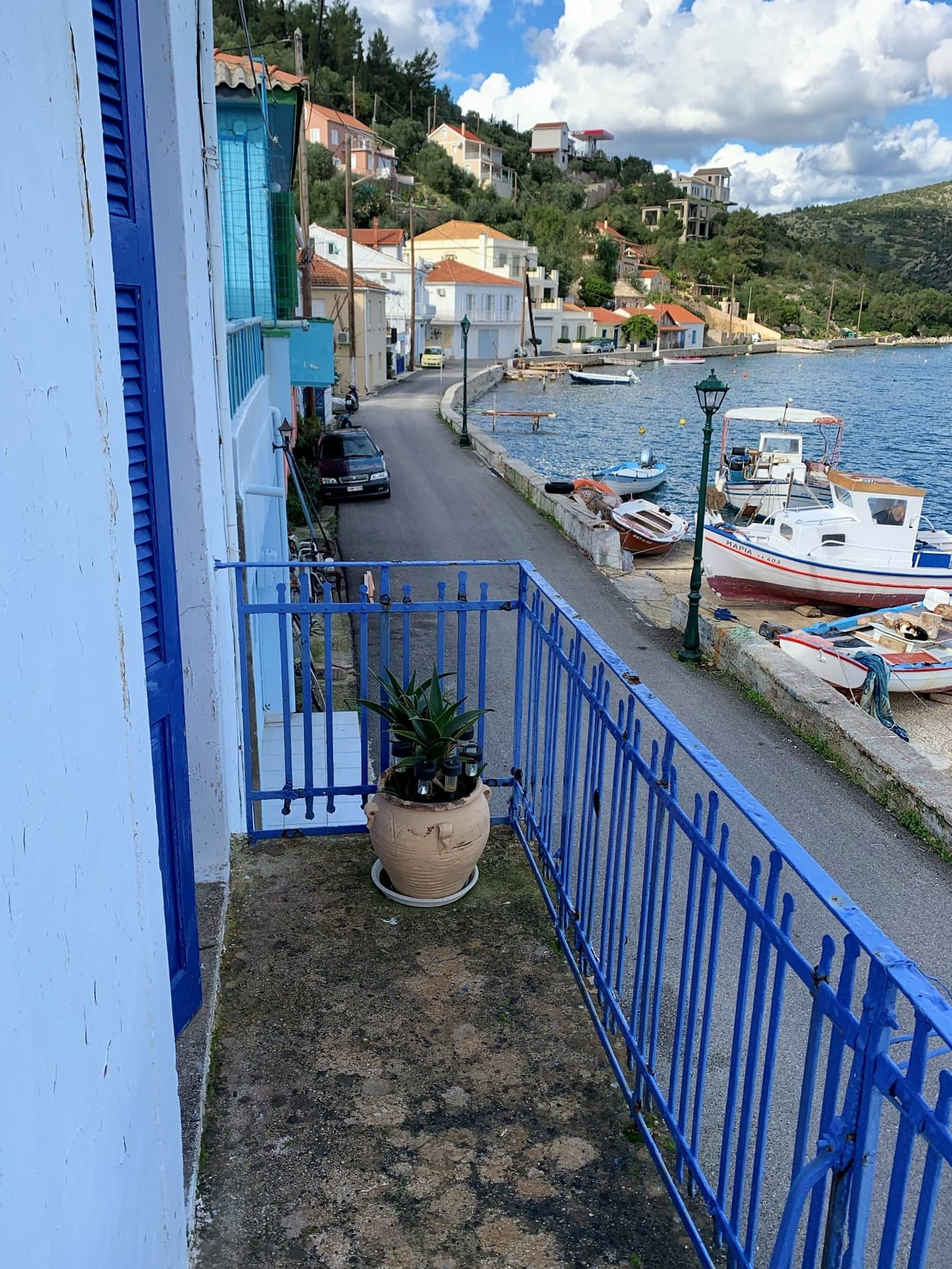 Sea view of house for sale in Ithaca Greece, Vathi