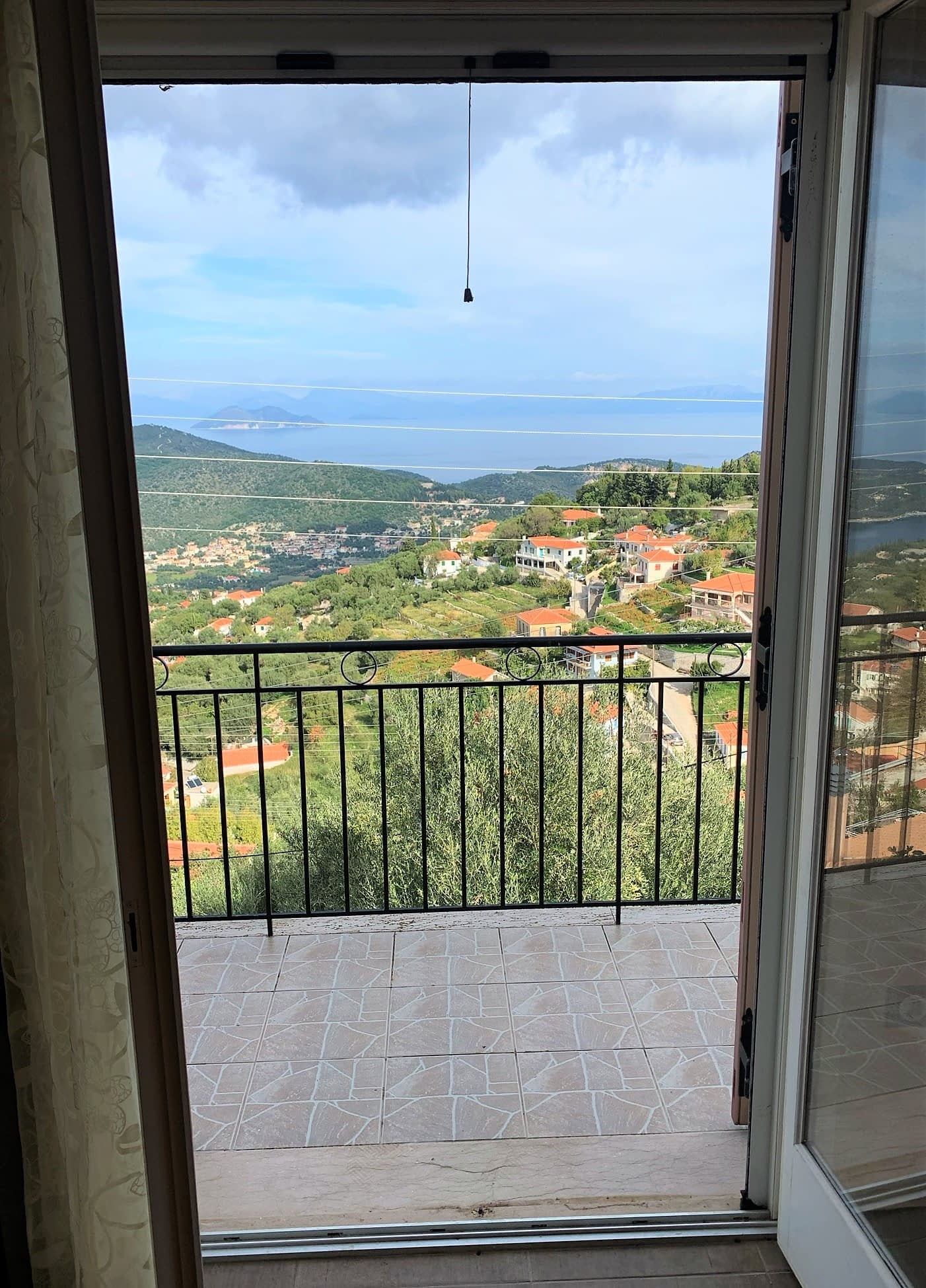 Sea views of house for sale in Ithaca Greece, Perachori
