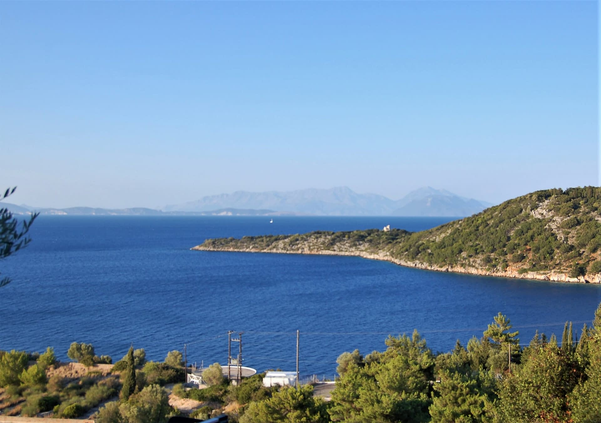 Interior of studio flat of property for sale in Ithaca Greece Kioni