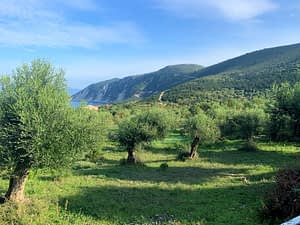 Sea view and landscape of house for sale in Ithaca Greece, Ag. Saranda