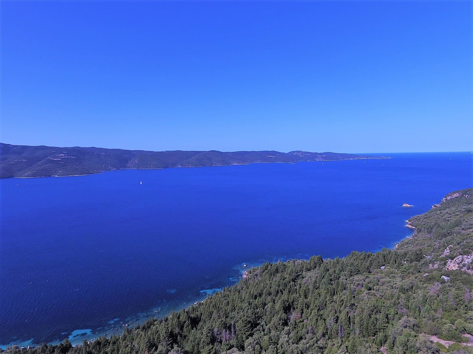 Aerial view of property for sale on Ithaca Greece
