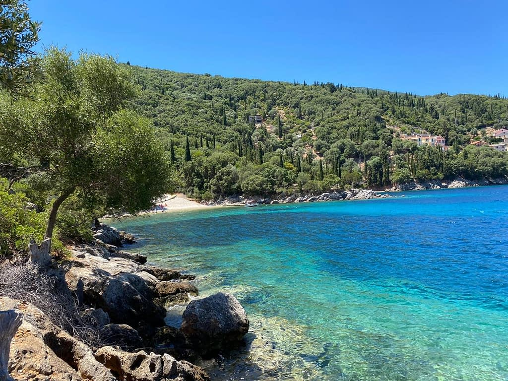 Filiatro beach in Kioni Ithaca Greece
