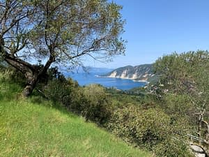 Sea view of land for sale in Ithaca Greece, Exoghi