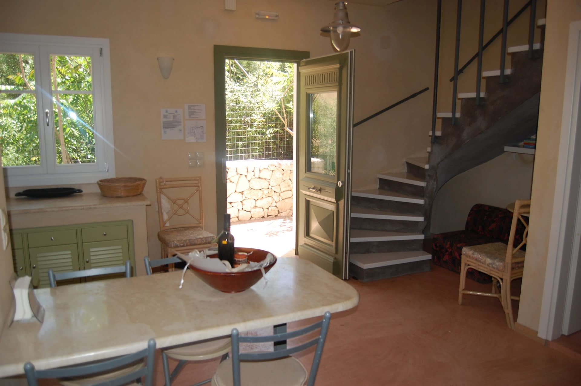 Interior of Homer's View houses to rent MV Properties Ithaca Greece