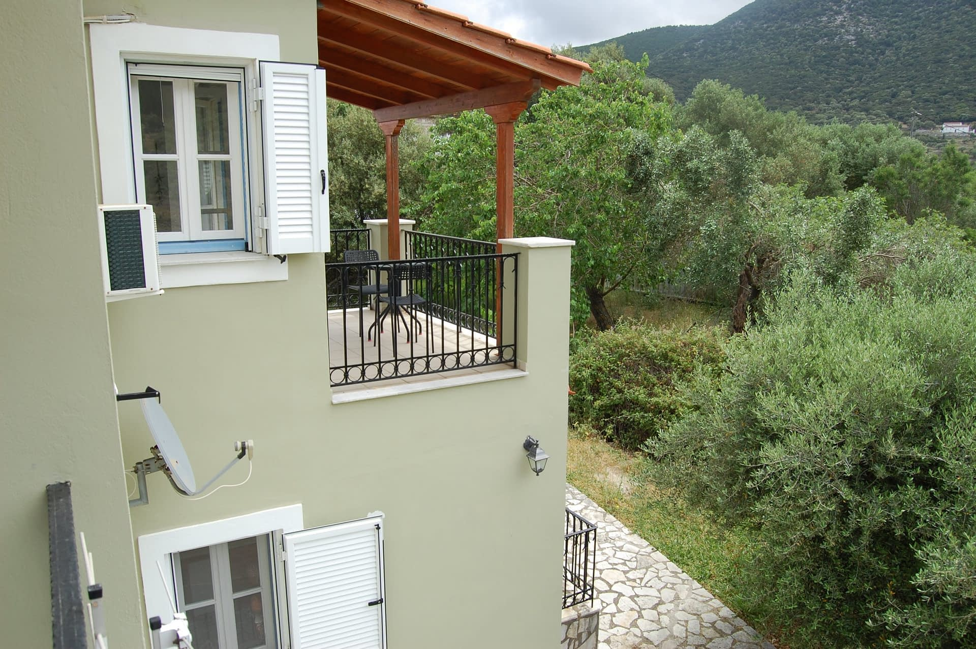 Exterior facade of house to rent in Ithaca Greece, Stavros