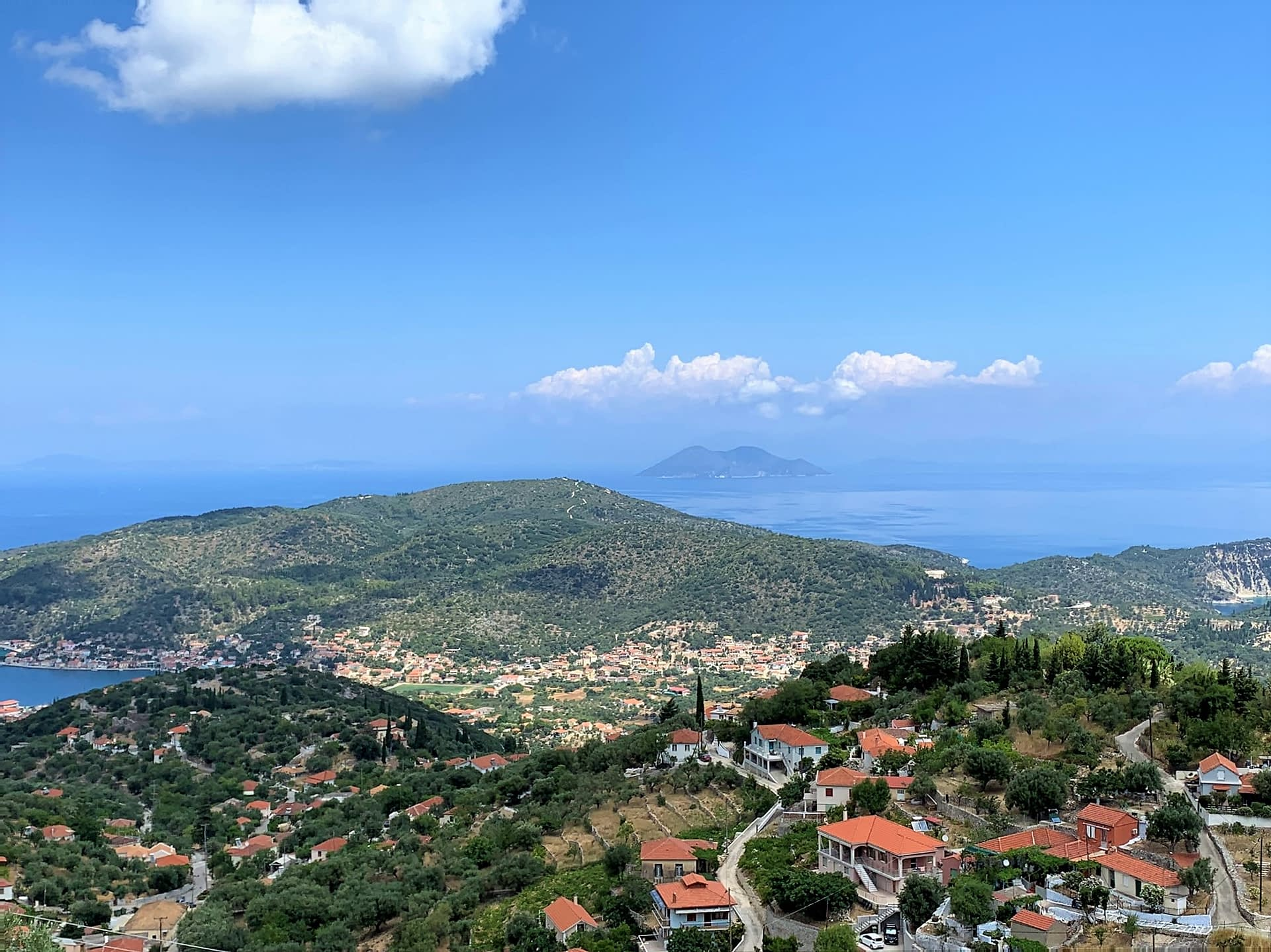Landscape and view of property for sale in Ithaca Greece Perachori