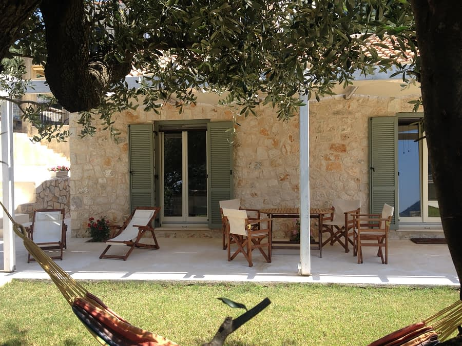 Holiday house with stone patio area in Stavros Ithaca Greece