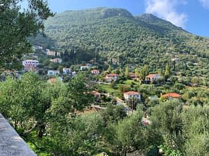 Landscape view of house for sale in Ithaca Greece, Perachori