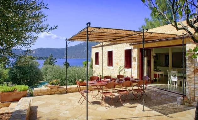 landscape of villa for rent Ithaca Greece, Vathi