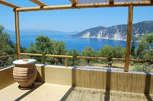 Views and outdoor space of house for rent in Ithaca Greece,Kolleri