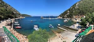 Sea views of apartment for rent in Ithaca Greece, Frikes