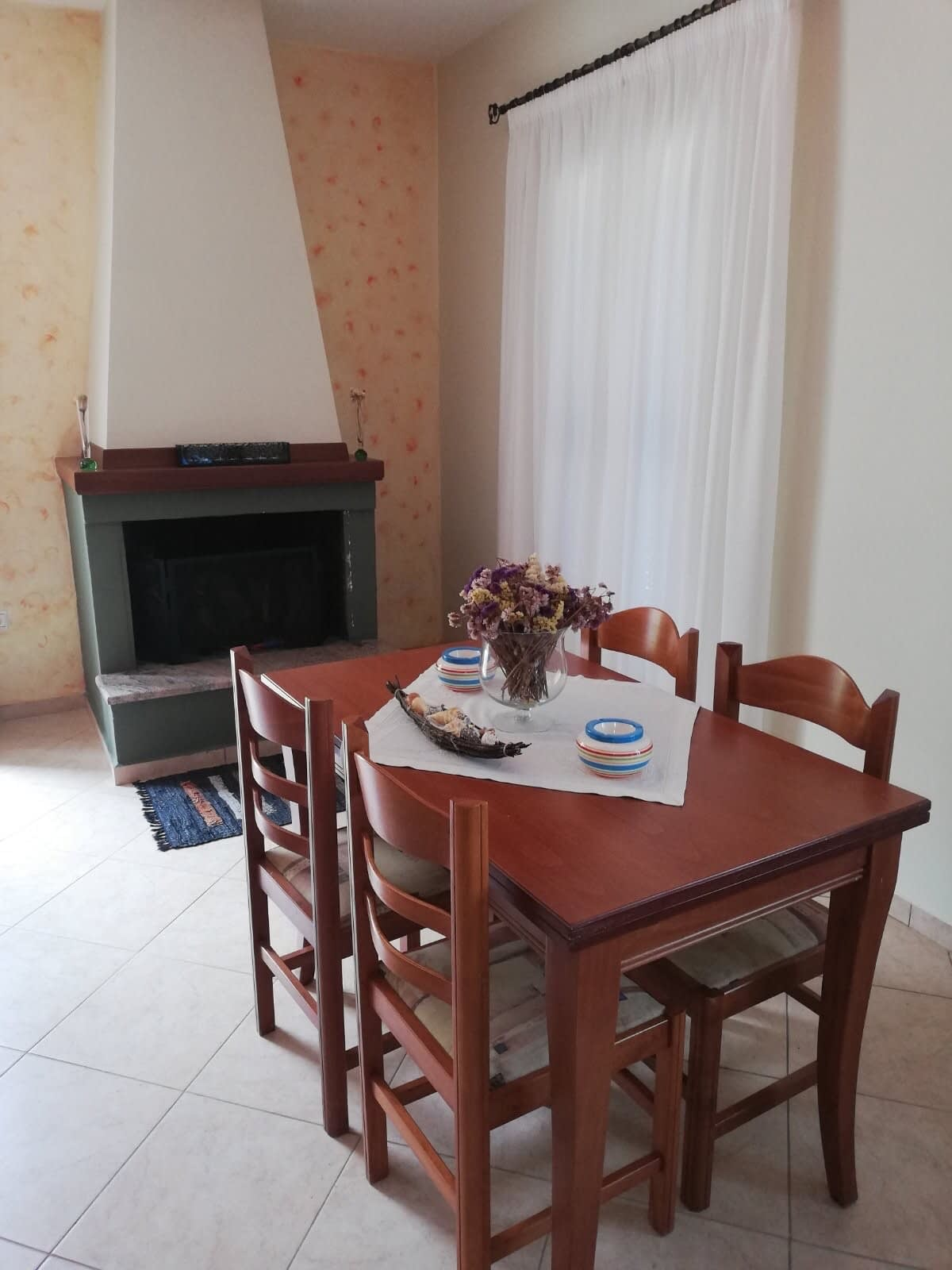 Dining area of property for sale in Ithaca Greece Vathi