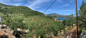 Sea view of land for sale on Ithaca Greece, Vathi