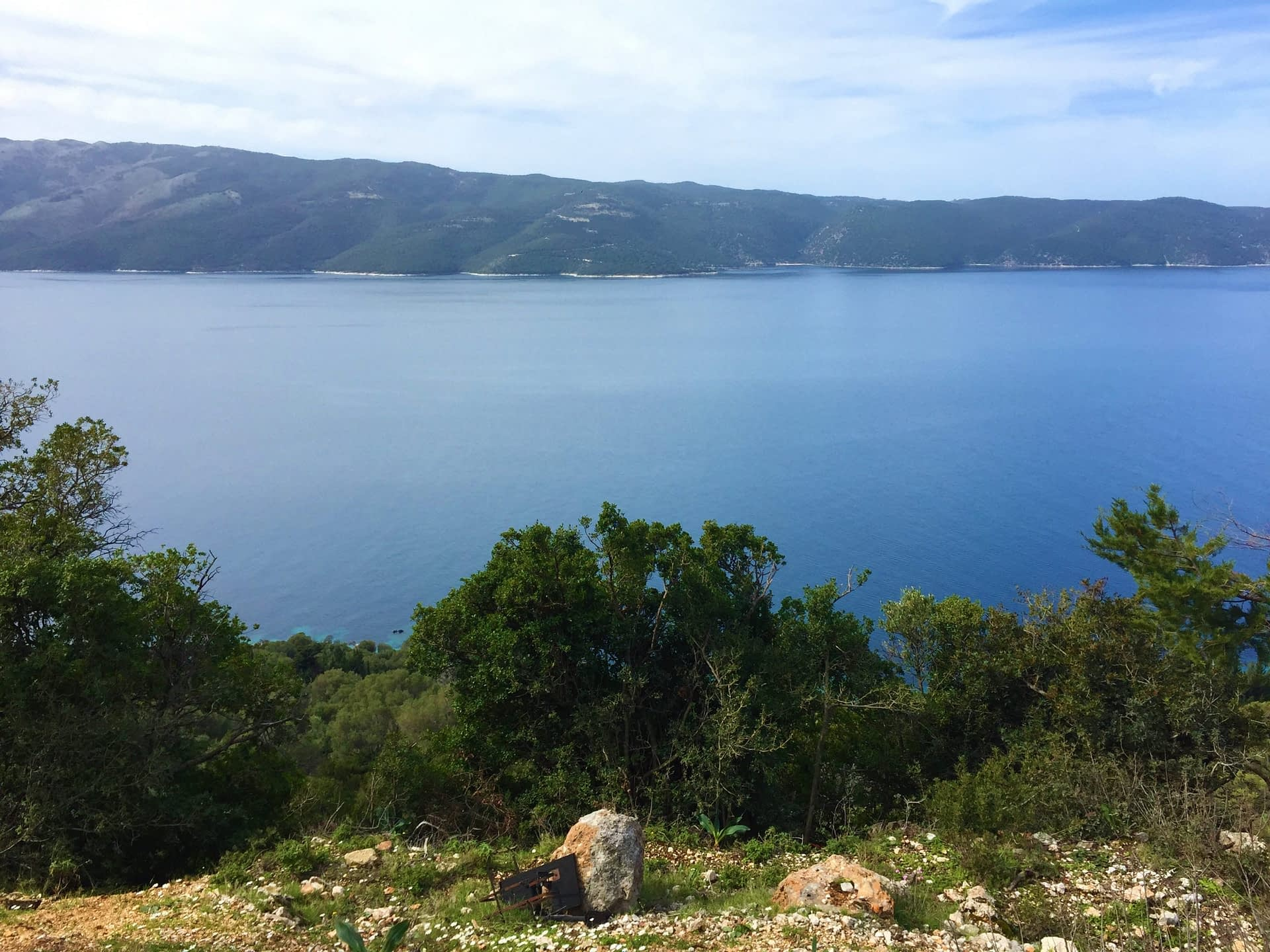 Sea view from property for sale on Ithaca Greece
