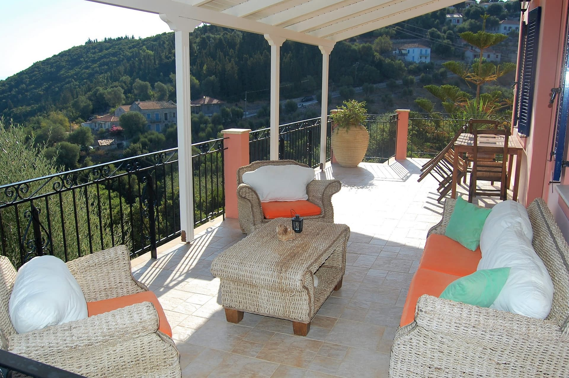Patio and sea view of house for sale Ithaca Greece, Kioni
