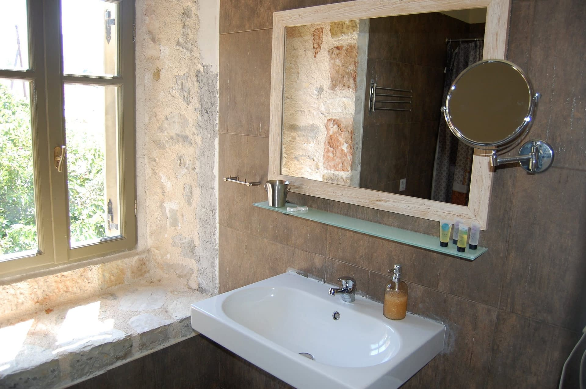 Bathroom of boutique hotel for sale on Ithaca Greece Vathi