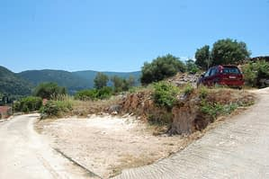 Landscape and terrain of land for sale on Ithaca Greece, Ag Saranta