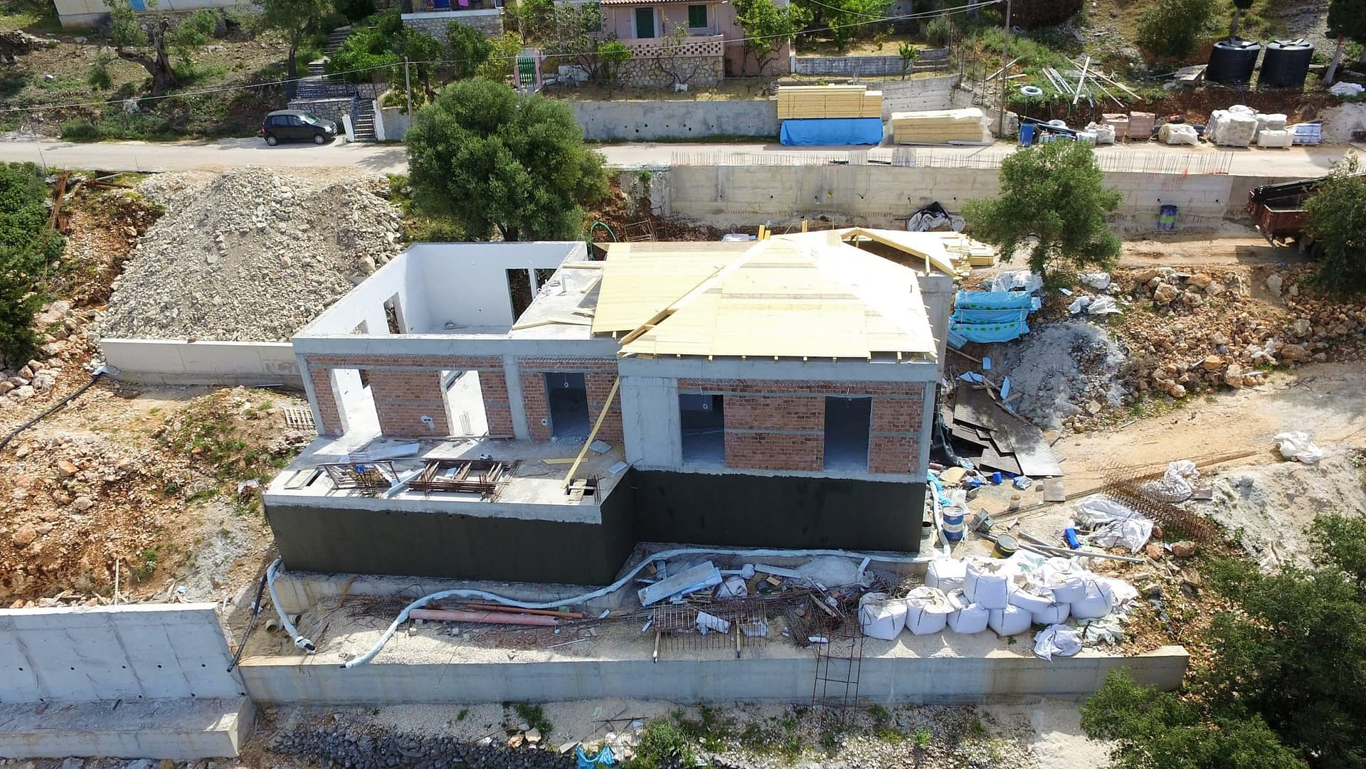 House under construction for sale Ithaca Greece, Lefki