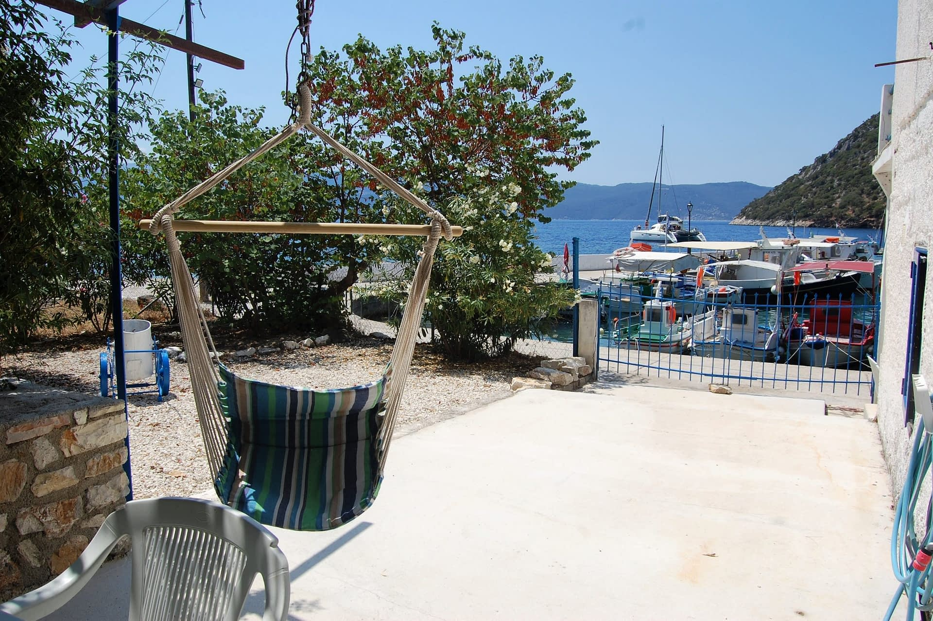 Outside area of house for rent in Polis Bay Ithaca Greece