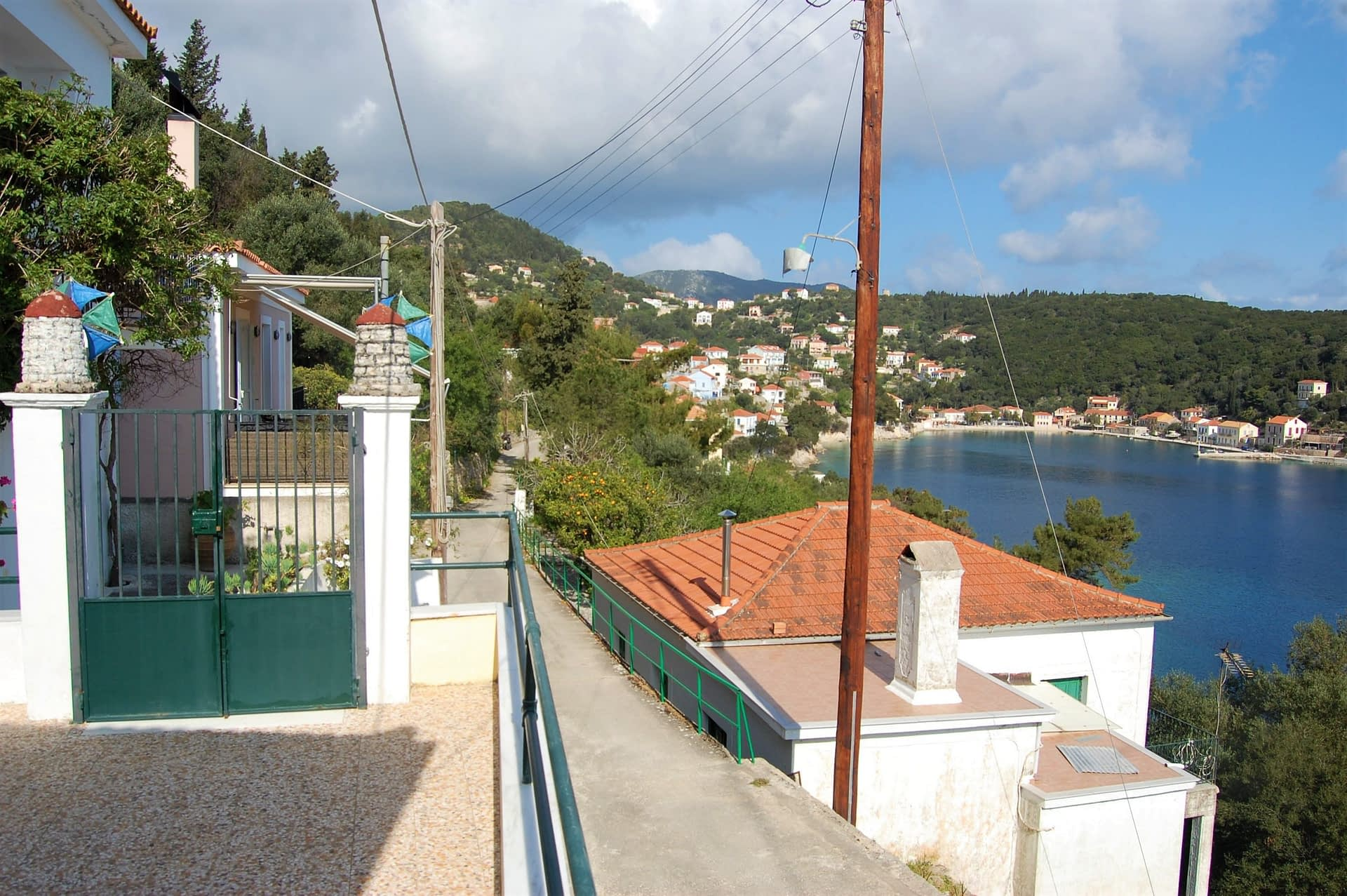 Sea view from house to rent in Ithaca Greece, Kioni