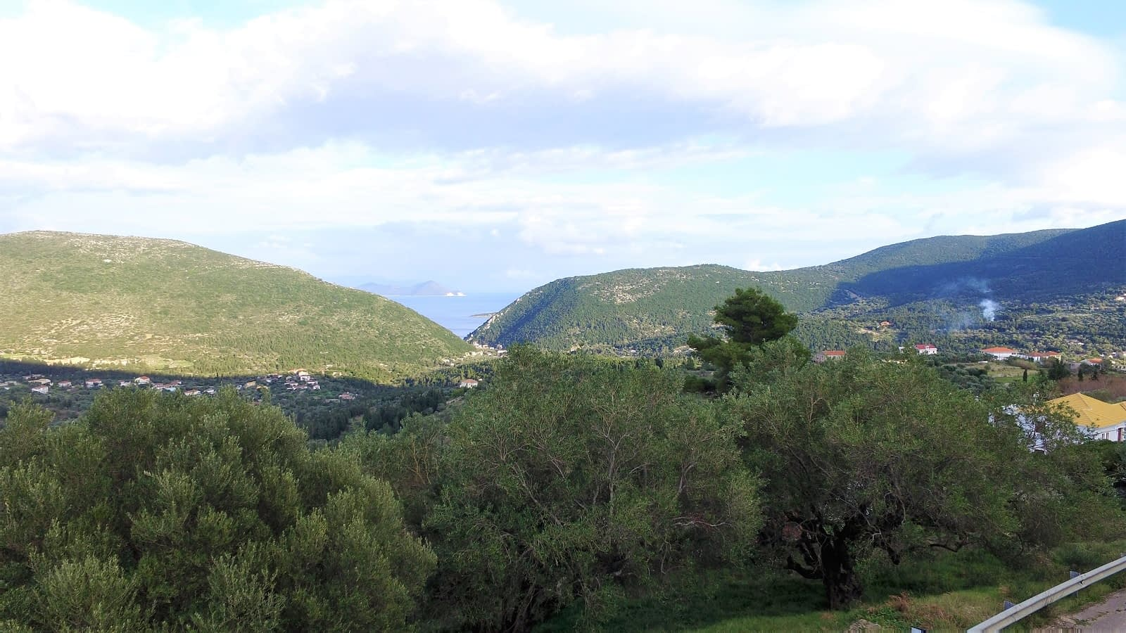 Landscape terrain with view of land for sale Ithaca Greece Exoghi