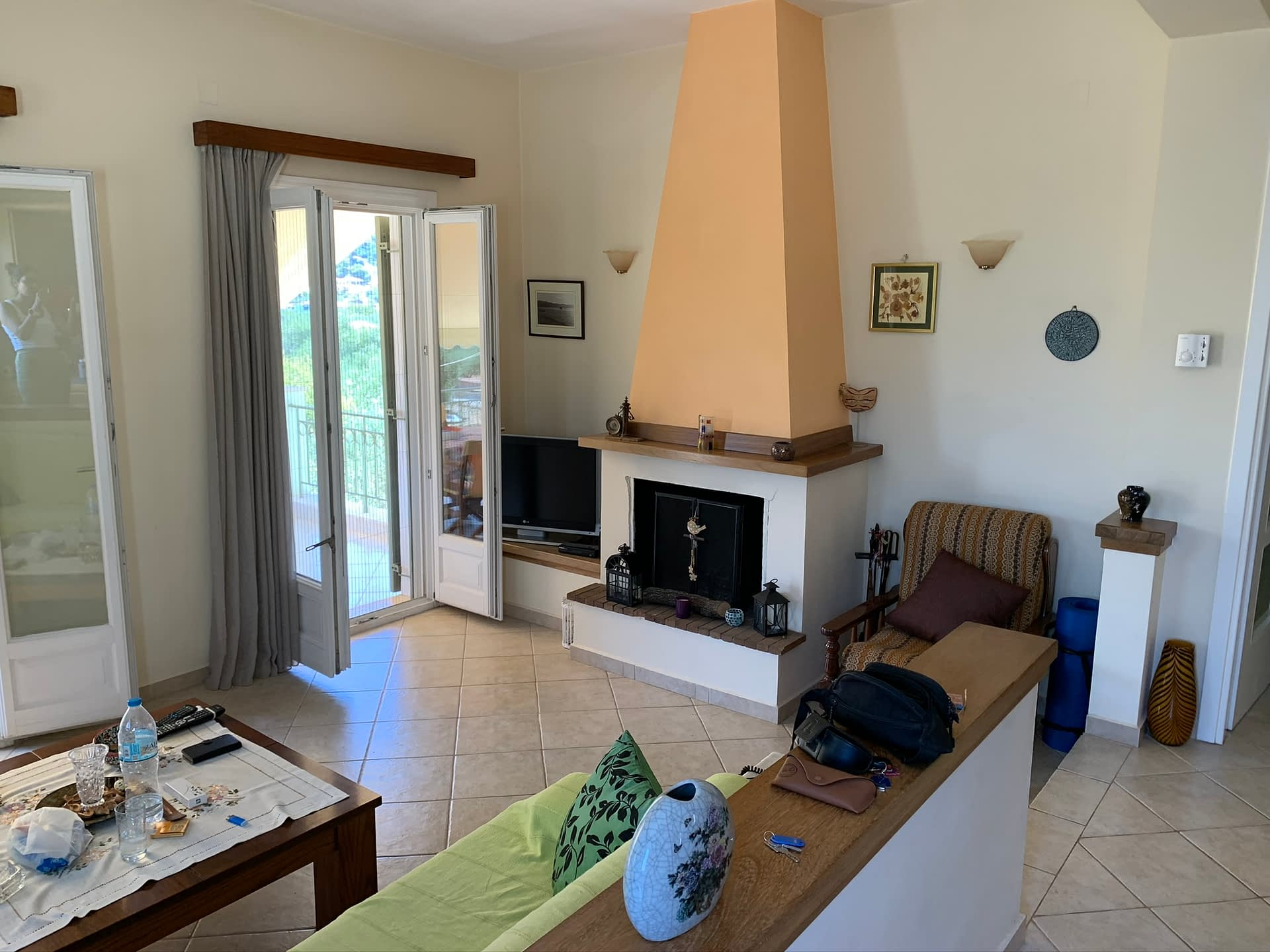 Interior living of house for sale in Ithaca Greece Vathi