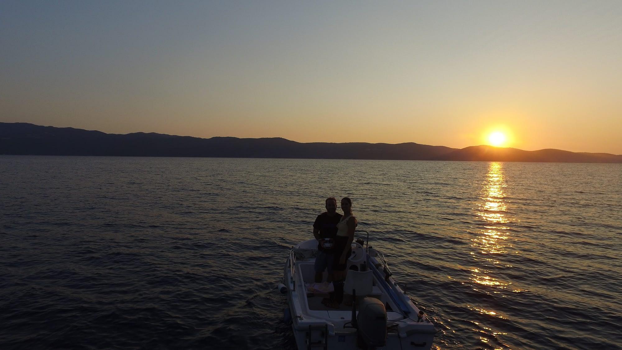 Sunset views Ithaca Greece, Stavros