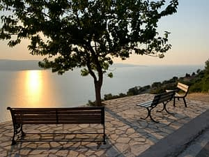 Sunset views from land for sale Ithaca Greece, Lefki
