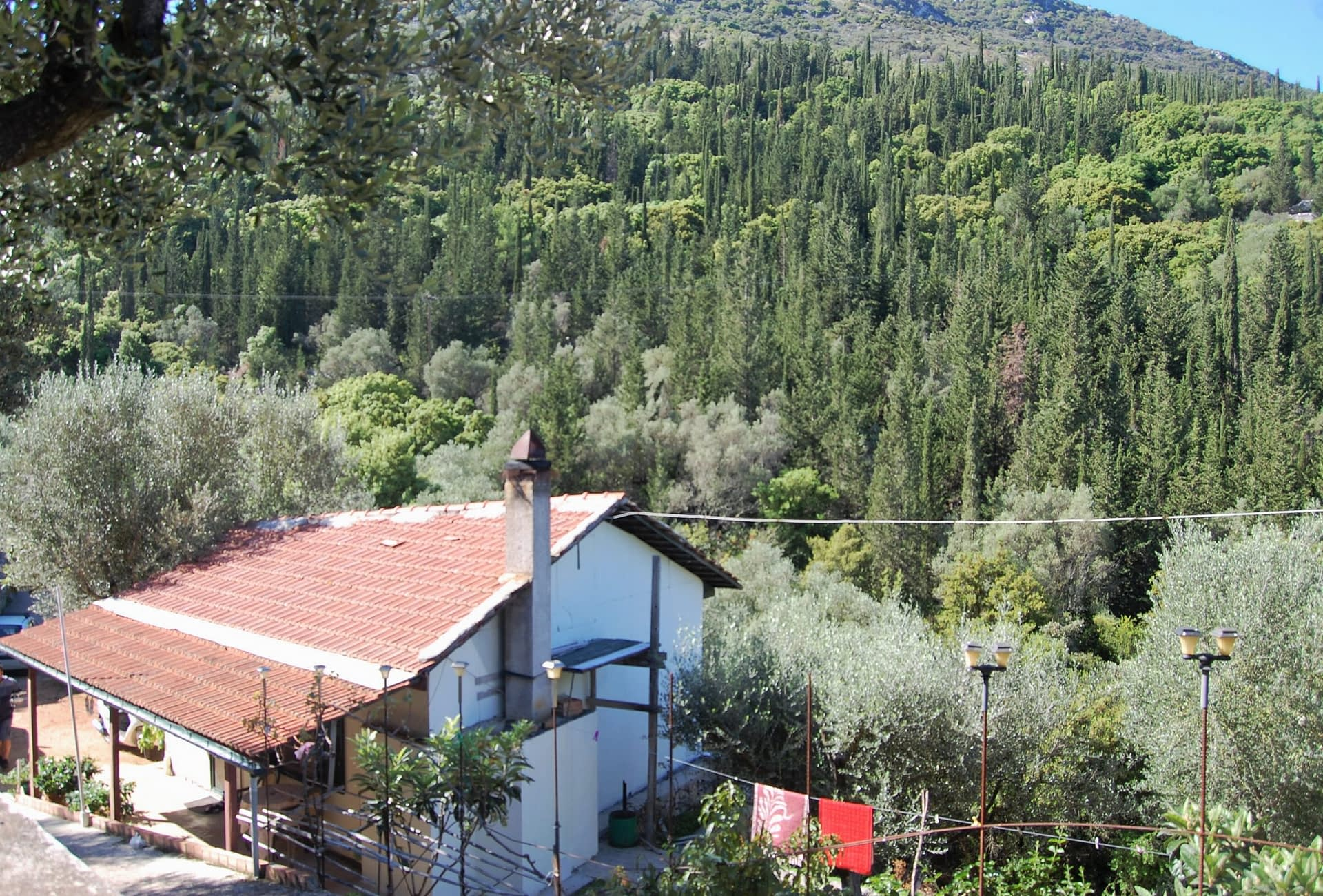 View of house for sale in Ithaca Greece, Perachori