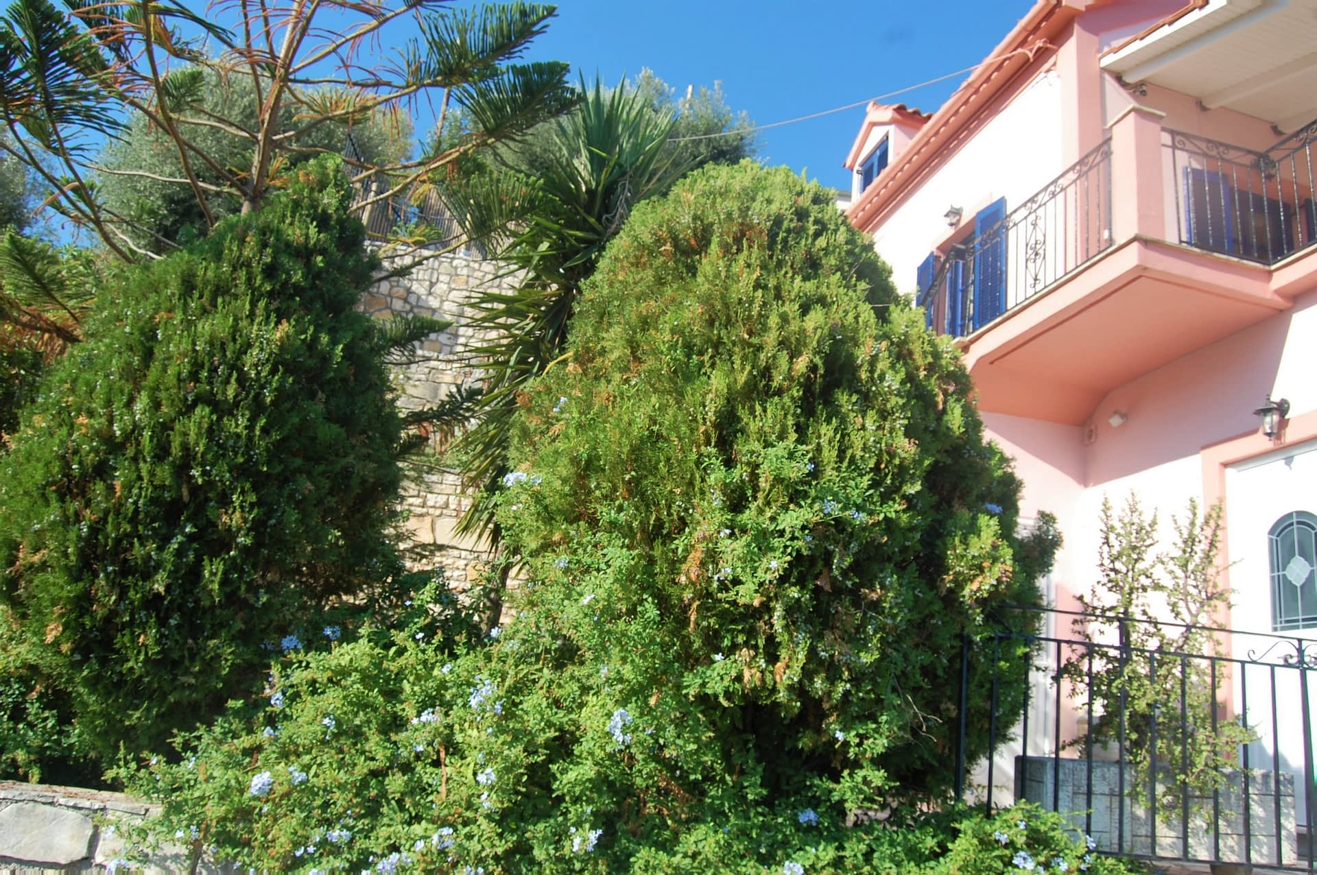 Exterior facade of house for sale Ithaca Greece, Kioni