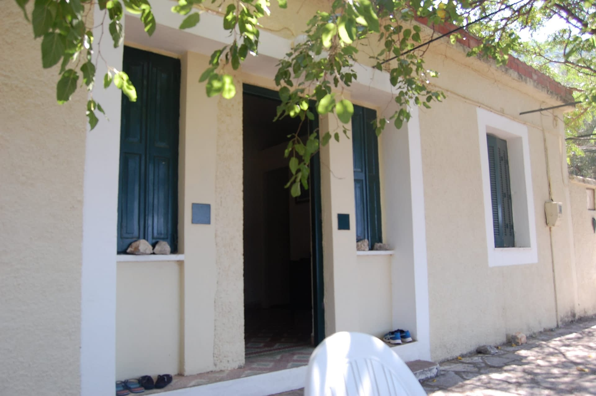 Exterior view of house for sale Ithaca Greece