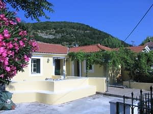 Exterior facade of house for sale in Ithaca Greece, Exoghi