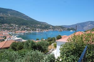 Landscape and sea view of property for sale in Ithaca Greece Vathi