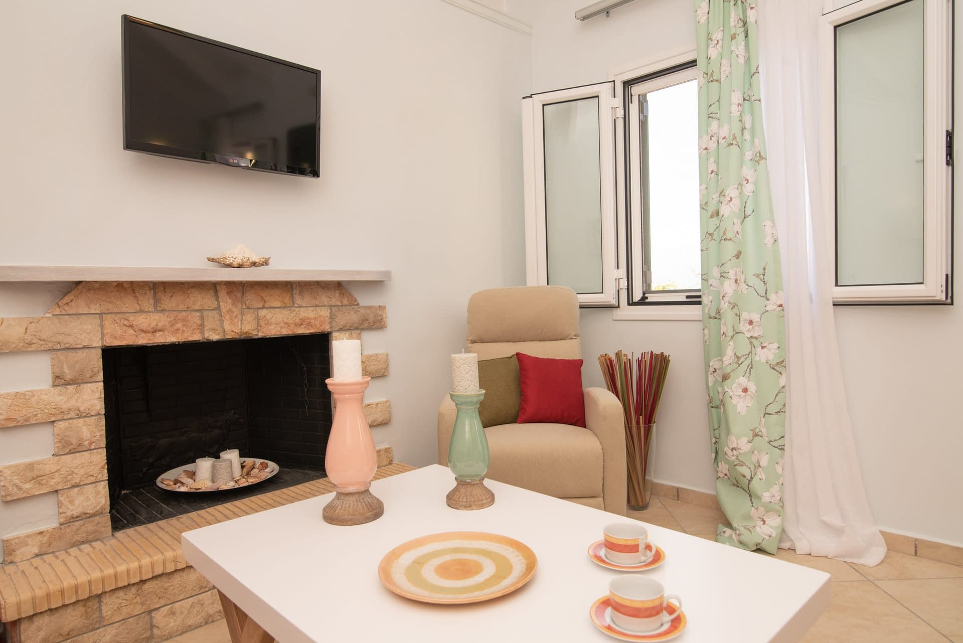 Interior view of house for rent in Ithaca Greece, Piso Aetos