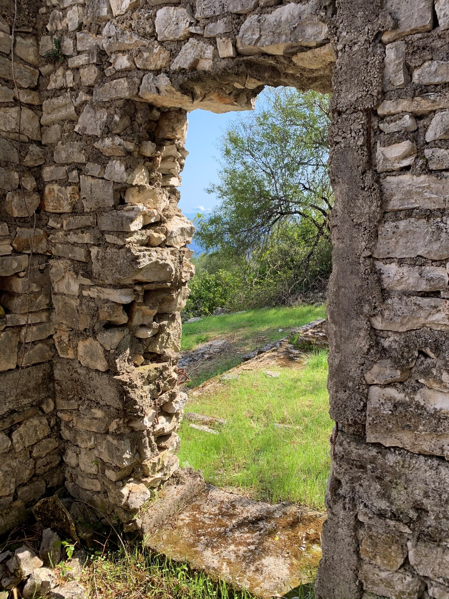 Ruin on land for sale in Ithaca Greece, Perachori