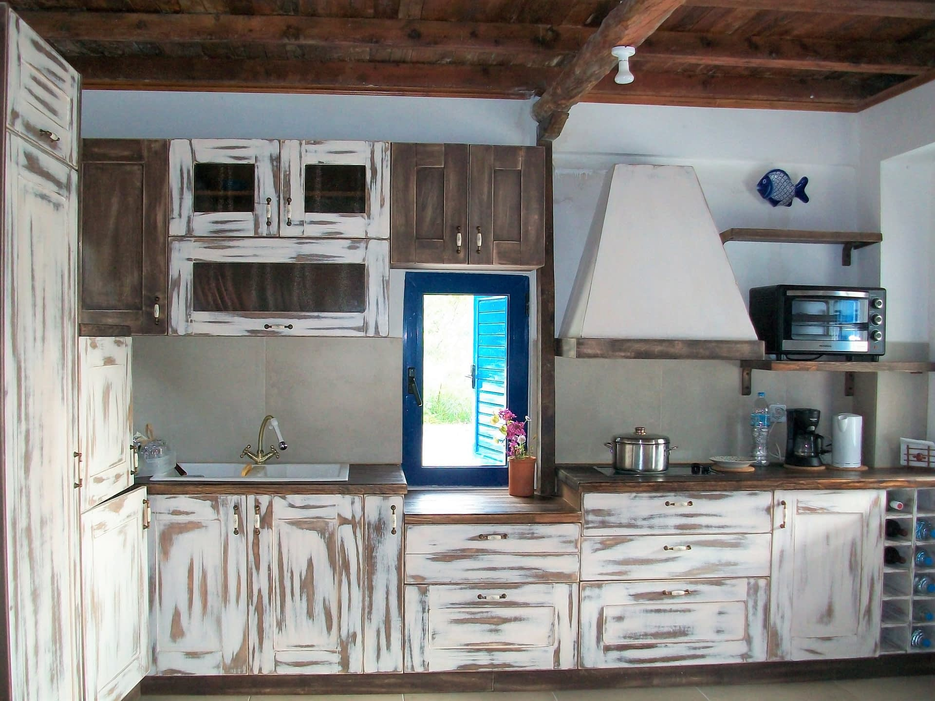 Interior Kitchen area of house for rent in Polis Bay Ithaca Greece