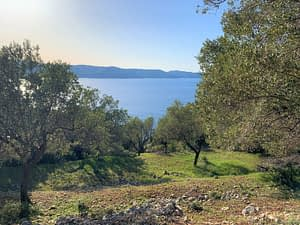 Sea view from land for sale in Ithaca Greece, Ag. Ioannis