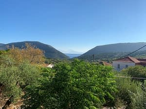 Village and sea view from house for sale in Ithaca Greece, Stavros