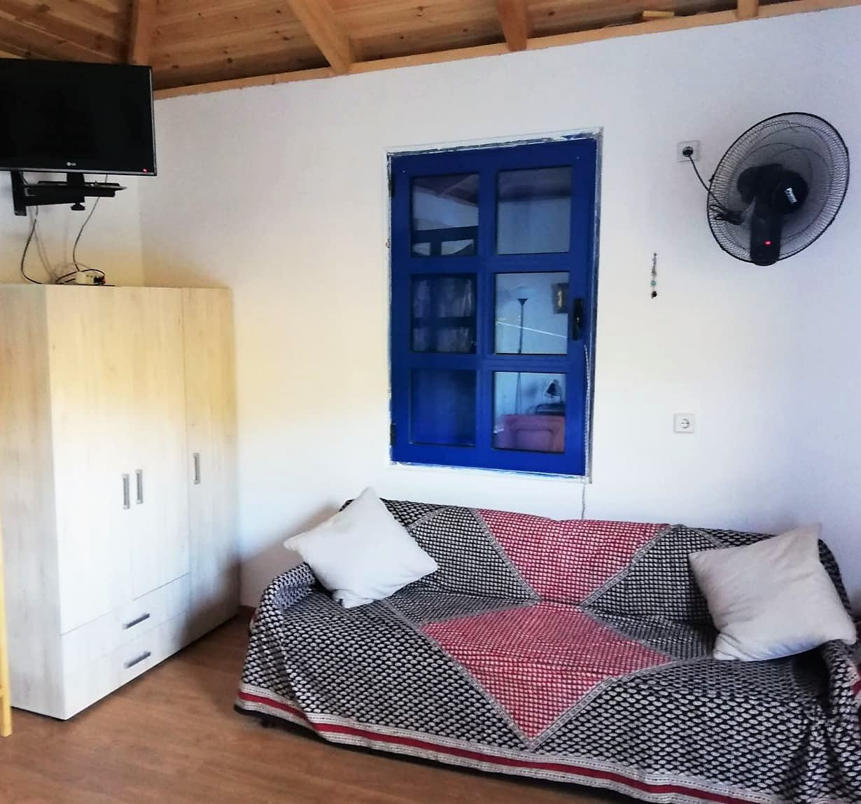 Interior bedroom of house for rent in Ithaca Greece in Polis bay