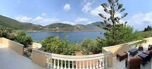 Panoramic Sea view from balcony of house for sale Ithaca Greece, Aetos